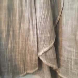 Jo Women/'s Gauze Swing Skirt Grey//Blue Anthropologie Tina